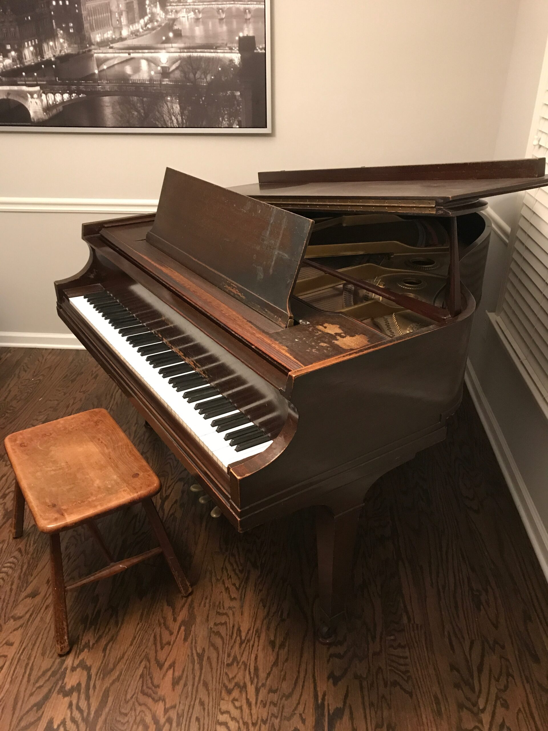 My Beautiful Baldwin Parlor Grand Piano